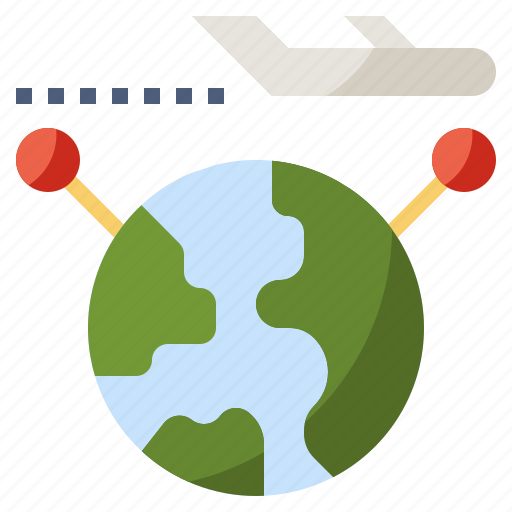 between, flight, plane, transfer, transportation, travel, world icon