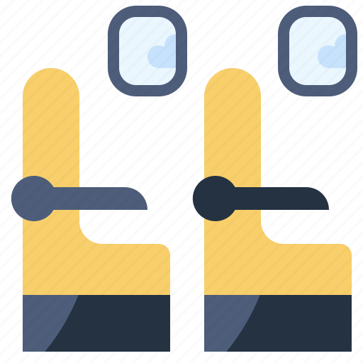 aeroplane, airplane, passenger, seat, seats, transportation, travel icon