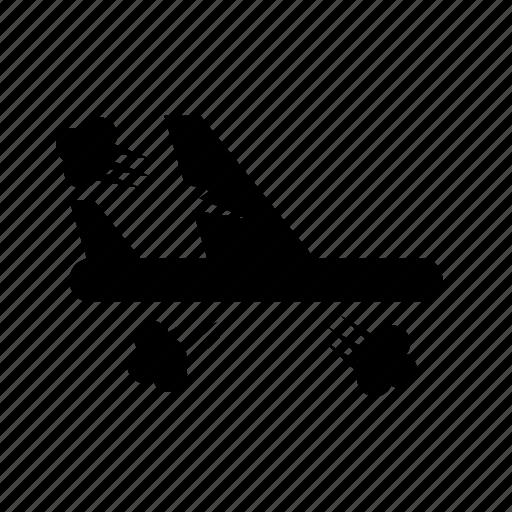 airport, broke, explosion, flight, plane icon