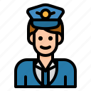 aircrew, avatar, captain, hat, pilot icon