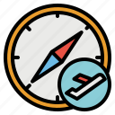 compass, location, maps, navigation, points icon