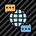 languages, monitor, multimedia, seat, translate icon