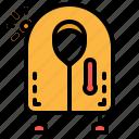 jacke, life, preserver, safe, vest icon