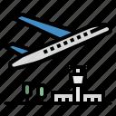 airplane, airport, flight, plane, travel icon