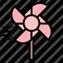mill, pinwheel, sign, wind, windmill icon