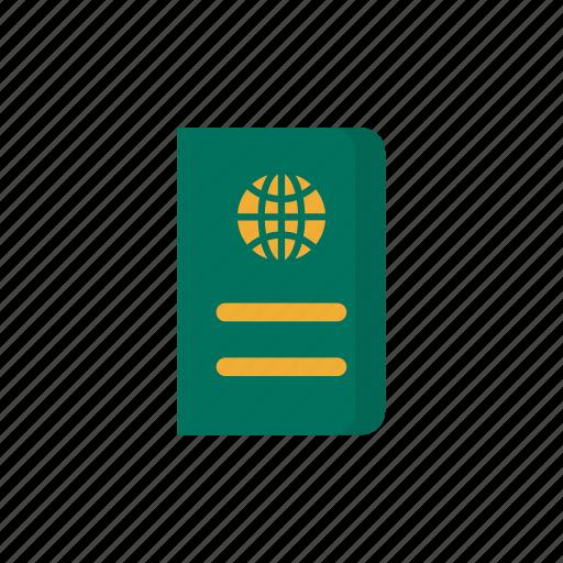 document, file, id, passport, travel, visa icon