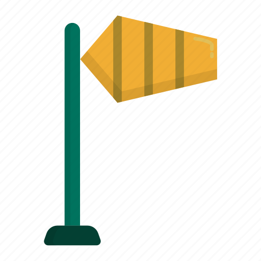 airport, arrow, direction, navigation, sign, wind icon