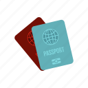 document, international, journey, pass, passport, tourism, travel icon