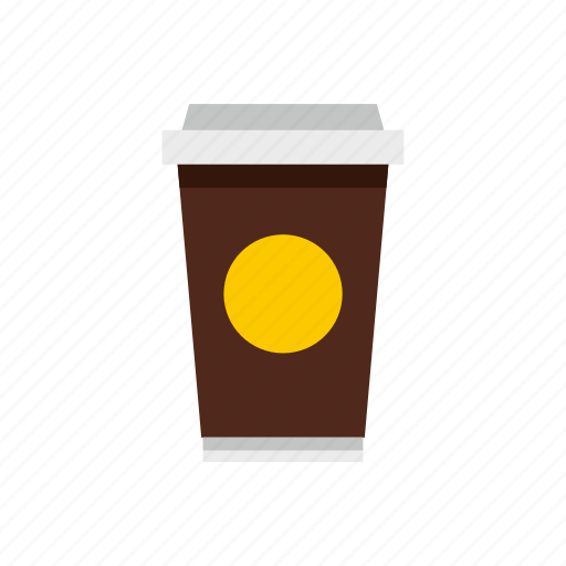 cafe, coffee, container, cup, disposable, drink, paper icon