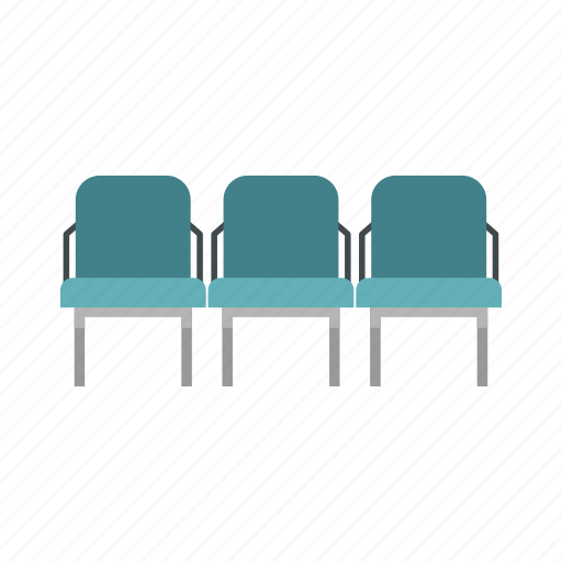 airport, chair, indoor, interior, modern, row, seat icon