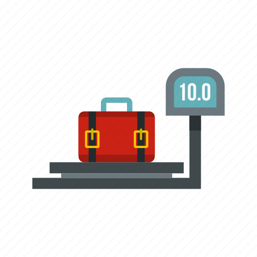 baggage, limit, luggage, scale, suitcase, ten, terminal icon