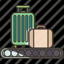 baggage, claim, conveyor, luggage, arrival