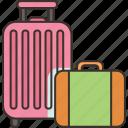 luggage, baggage, suitcase, travel, journey