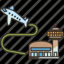 takeoff, airport, flight, departure, journey