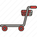 trolley, cart, luggage, carry, airport