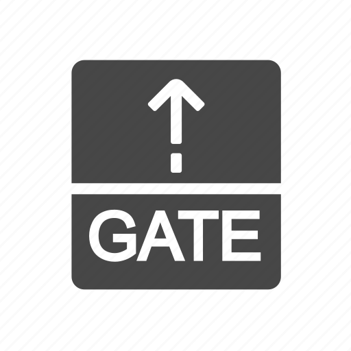 airport, aviation, gate, transport icon