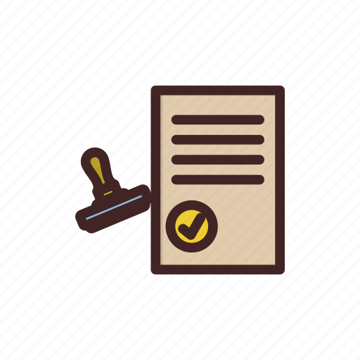 approved, document, pass, passport, visa icon