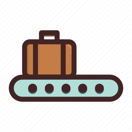 baggage, checking, luggage, suitcase, travel icon