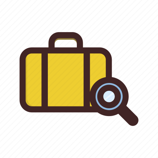 baggage, check, immigration, luggage, security icon