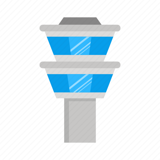 airport, tower icon