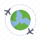 airplane, airport, flight, holiday, plane, transportation, travel icon