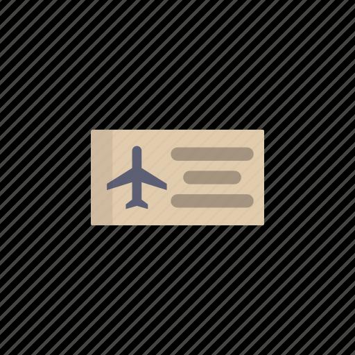 airplane, plane, ticket, tourism, transport, travel icon