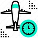 airline, airport, boarding, plane, time, transportation icon