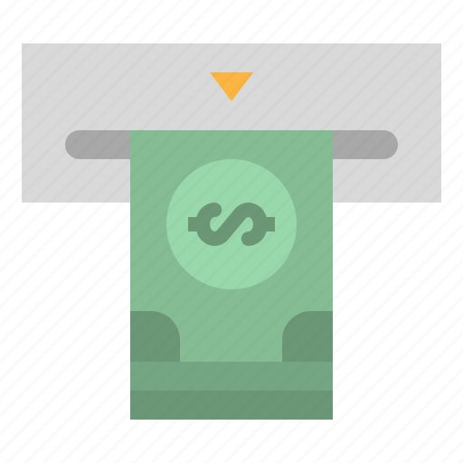 atm, bills, cash, money, withdraw icon