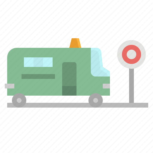 Bus, city, minibus, station, stop icon - Download on Iconfinder