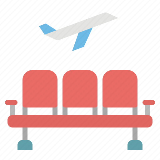 airport, furniture, household, seats, waiting icon
