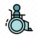 chair, handicap, handicapped, sign, wheels icon