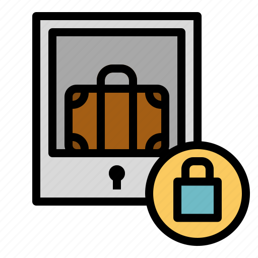 baggage, locker, luggage, security, storage icon
