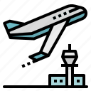 aeroplane, airplane, airport, flight, plane icon
