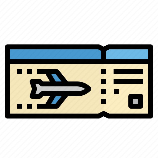 airplane, boarding, flight, pass, ticket icon
