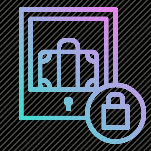 baggage, locker, luggage, security, storage icon