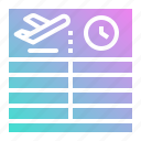 airport, arrival, departure, flight, information icon