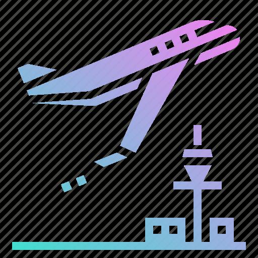aeroplane, airplane, airport, flight, plane icon