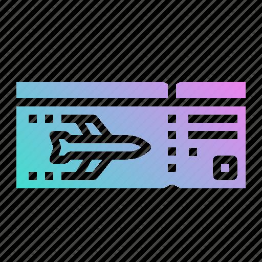 airplane, boarding, flight, pass, ticket icon