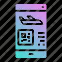 code, phone, plane, qr, smartphone, ticket