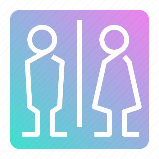 bathroom, man, restroom, room, toilet, woman icon