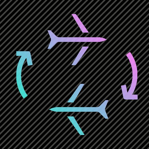 aeroplane, airplane, airport, flight, transportation icon
