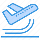 airplane, airport, departure, plane, transportation, travel icon