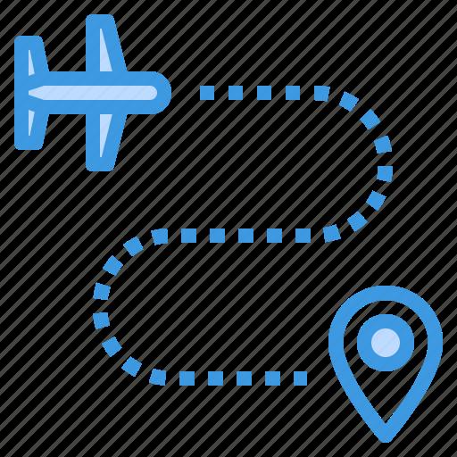 airplane, airport, map, plane, transportation, travel icon