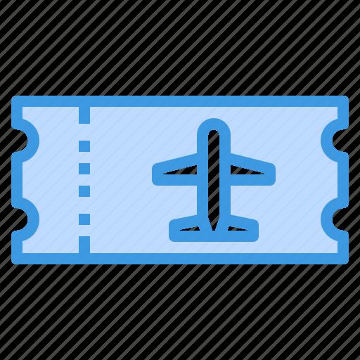airplane, airport, plane, ticket, transportation, travel icon