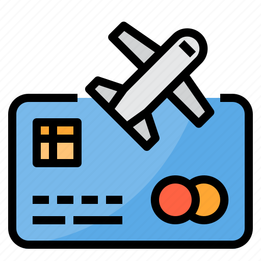 airplane, airport, payment, plane, transportation, travel icon