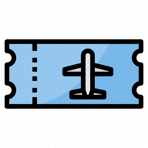 airplane, airport, plane, ticket, transportation, travel icon