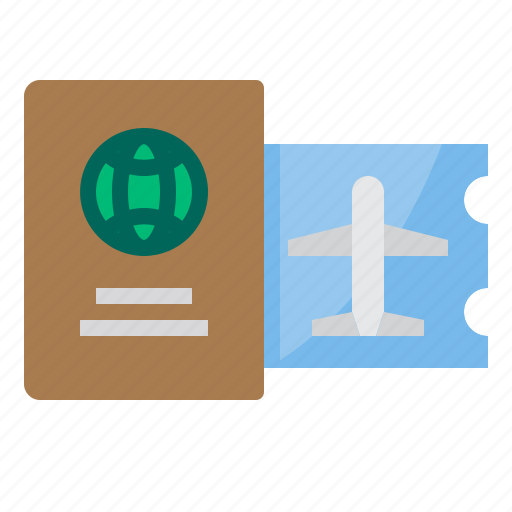 airplane, airport, passport, plane, transportation, travel icon