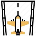 airplane, airport, off, take, transport icon