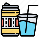 beverage, can, cola, drink, water icon