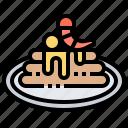 bakery, dessert, food, gourmet, pancake icon
